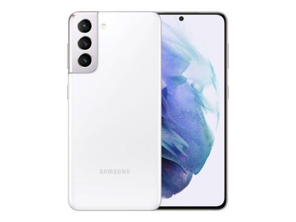 """Samsung S21 6,2"""" phantom side 128GB Passion for AV side og front"""